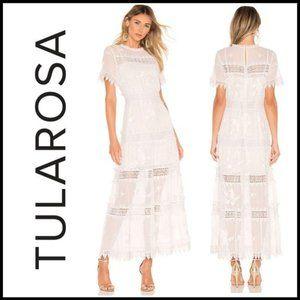 NWT TULAROSA Emmeline Ivory Boho Lace Maxi Dress S